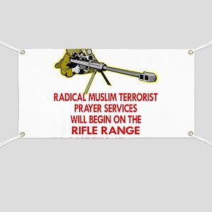 Terrorist Prayer Services Banner