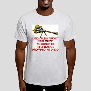 Terrorist Prayer Services Light T-Shirt