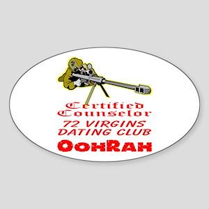 72 Virgins Dating Club Sticker (Oval)