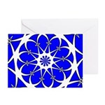Blue Oval Cards (Pk of 10)