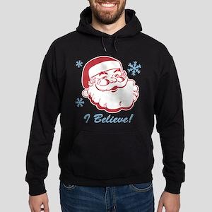 Retro Santa Believe Hoodie (dark)