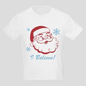 Retro Santa Believe Kids Light T-Shirt