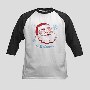 Retro Santa Believe Kids Baseball Jersey
