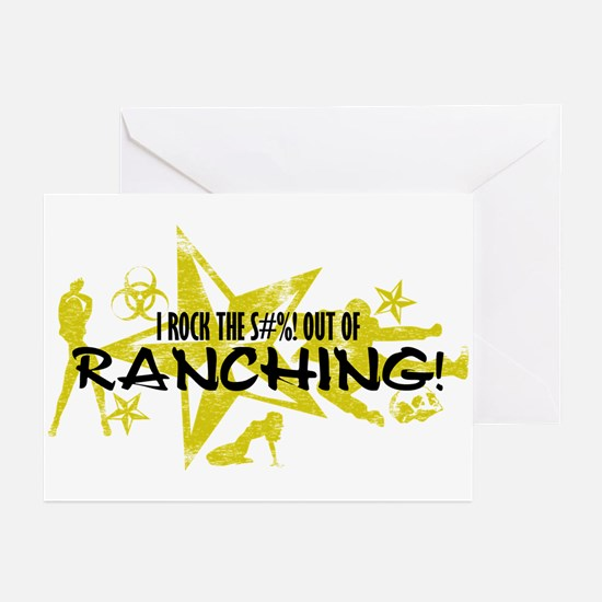 I ROCK THE S#%! - RANCHING Greeting Cards (Pk of 1