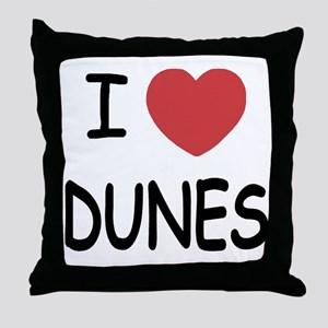I heart dunes Throw Pillow