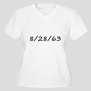 8/28/63 Women's Plus Size V-Neck T-Shirt