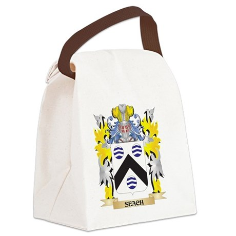Seach Family Crest - Coat of Arms Canvas Lunch Bag