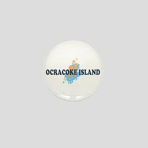Ocracoke Island - Seashells Design Mini Button