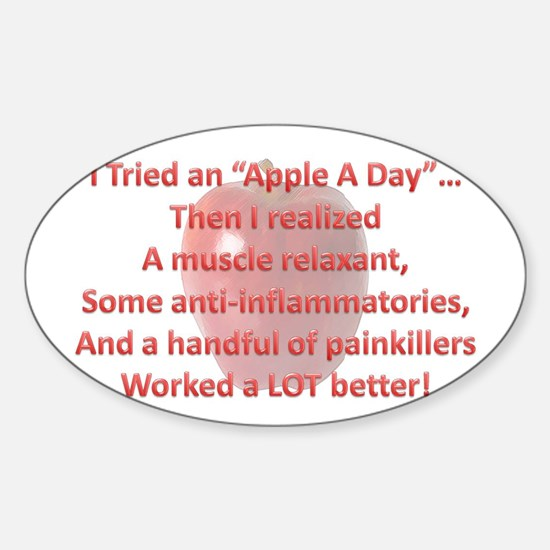 Apple A Day Sticker (Oval)
