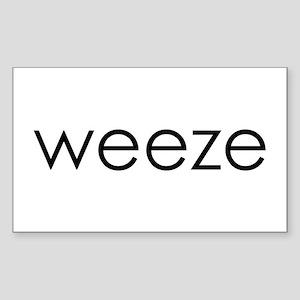 WEEZE Rectangle Sticker