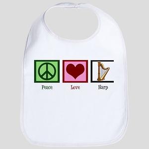 Peace Love Harp Bib