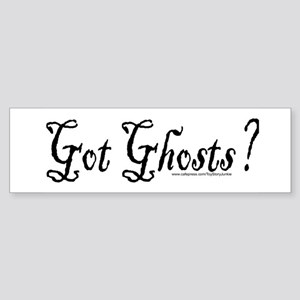 """Got ghosts?"" Bumper Sticker"