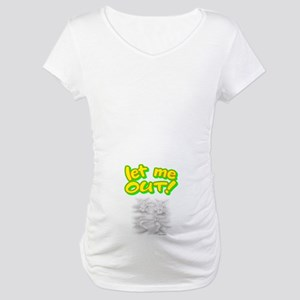 bf4554fb58172 Baby Bump White Maternity T-Shirts - CafePress