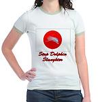 Stop Dolphin Slaughter Jr. Ringer T-Shirt