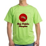 Stop Dolphin Slaughter Green T-Shirt