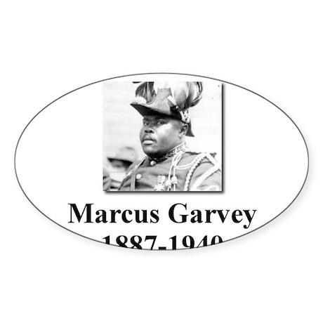 Marcus Garvey Oval Sticker