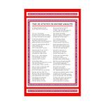 Fifty States Rhyme, 50 US States Mini Poster Print