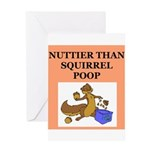 nutty crazy Greeting Card