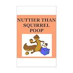 nutty crazy Mini Poster Print