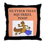 nutty crazy Throw Pillow