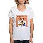 nutty crazy Women's V-Neck T-Shirt