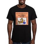 nutty crazy Men's Fitted T-Shirt (dark)