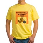 nutty crazy Yellow T-Shirt