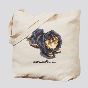 Black Tan Pomeranian Tote Bag
