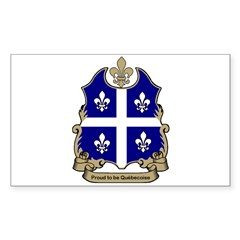 Proud Quebecoise Rectangle Decal