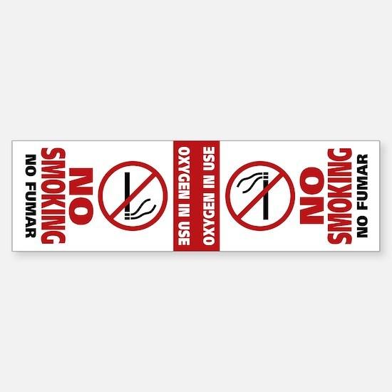 NO SMOKING Sticker (Bumper)