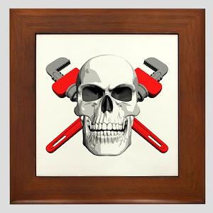 Plumbers Skull Framed Tile
