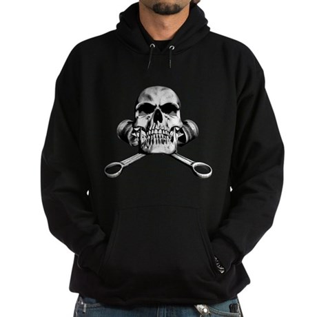 Skull and Pistons Hoodie (dark)