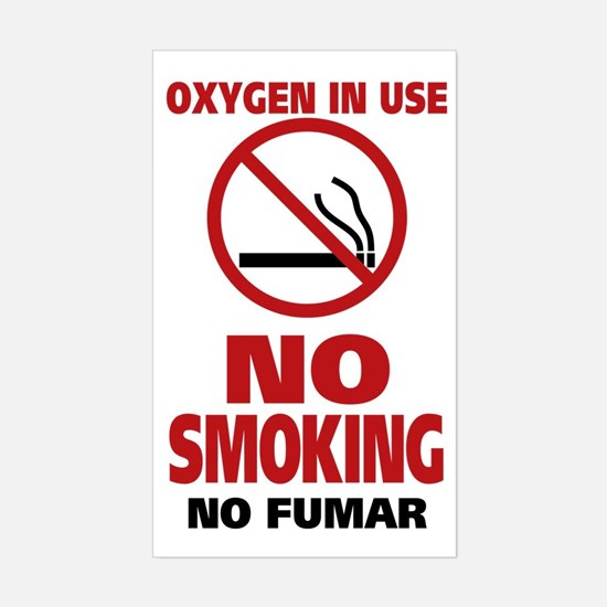 NO SMOKING Sticker (Rectangle)