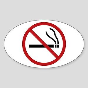 NO SMOKING Sticker (Oval)