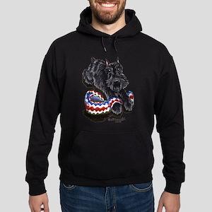 Black Schnauzer Afghan Hoodie (dark)