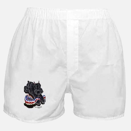 Black Schnauzer Afghan Boxer Shorts