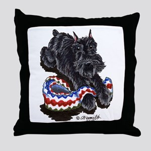 Black Schnauzer Afghan Throw Pillow