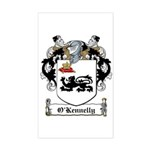 O'Kennelly Coat of Arms Rectangle Sticker