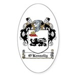 O'Kennelly Coat of Arms Oval Sticker