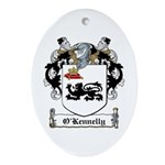 O'Kennelly Coat of Arms Oval Ornament