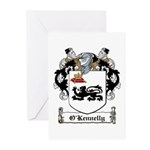 O'Kennelly Coat of Arms Greeting Cards (Package of