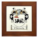 O'Kennelly Coat of Arms Framed Tile