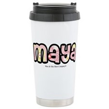 Maya - Personalized Design 2 Stainless Steel Trave