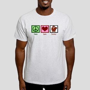 Peace Love Turkey Light T-Shirt