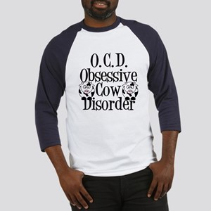 Obsessive Cow Disorder Baseball Jersey