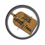 1oo% Cruelty Free 2 Wall Clock