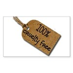 1oo% Cruelty Free 2 Sticker (Rectangle 50 pk)
