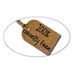 1oo% Cruelty Free 2 Sticker (Oval 50 pk)
