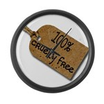 1oo% Cruelty Free 2 Large Wall Clock