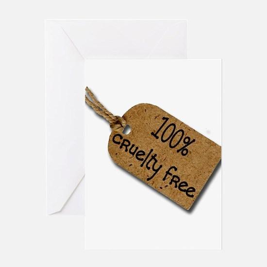 1oo% Cruelty Free 2 Greeting Card